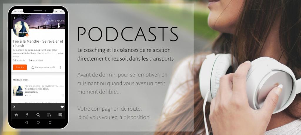 Podcast Fée à la Menthe Soundcloud Itunes Tunein Développement personnel Créativité